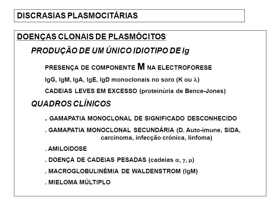 DISCRASIAS PLASMOCITÁRIAS