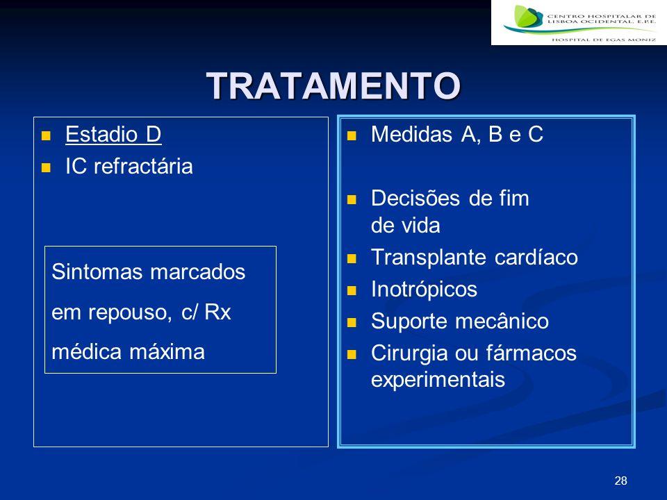 TRATAMENTO Estadio D IC refractária Medidas A, B e C