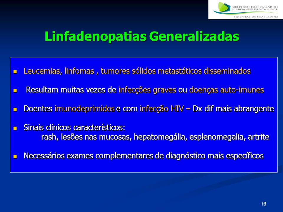 Linfadenopatias Generalizadas