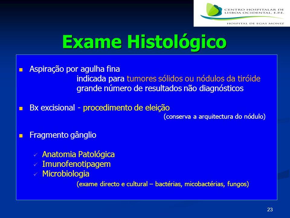 Exame Histológico Aspiração por agulha fina