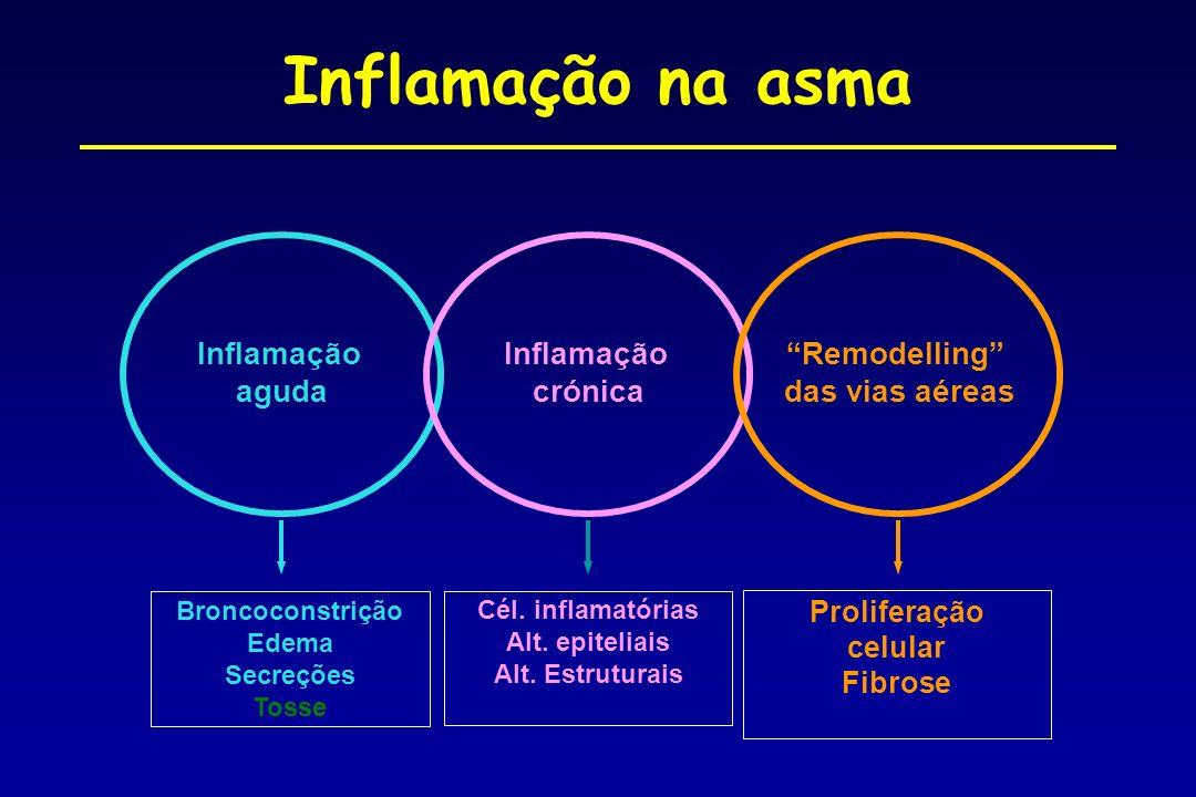 Inflamação na asma Inflamação aguda Inflamação crónica Remodelling