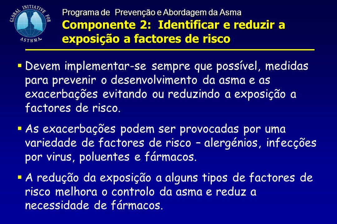 Componente 2: Identificar e reduzir a exposição a factores de risco
