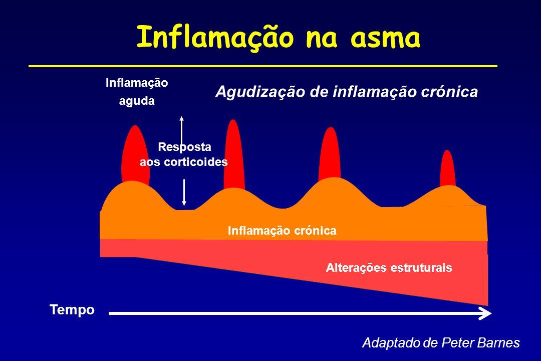 Inflamação na asma Agudização de inflamação crónica Tempo