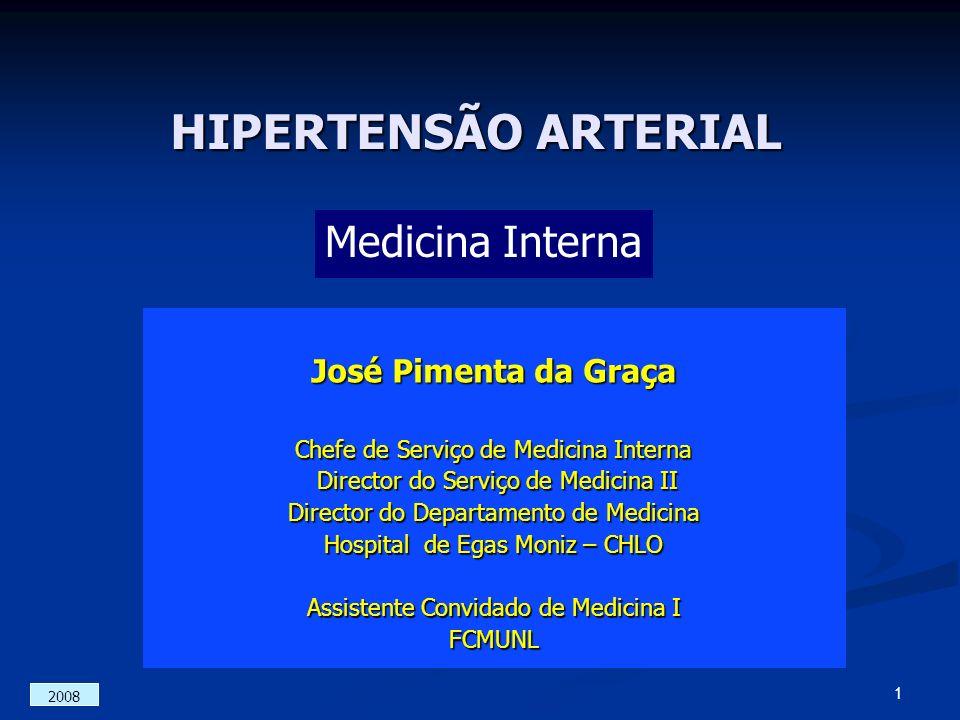 HIPERTENSÃO ARTERIAL Medicina Interna José Pimenta da Graça