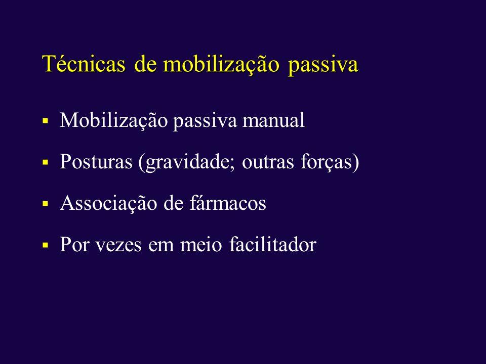 Técnicas de mobilização passiva