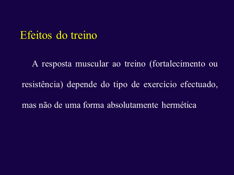 Efeitos do treino