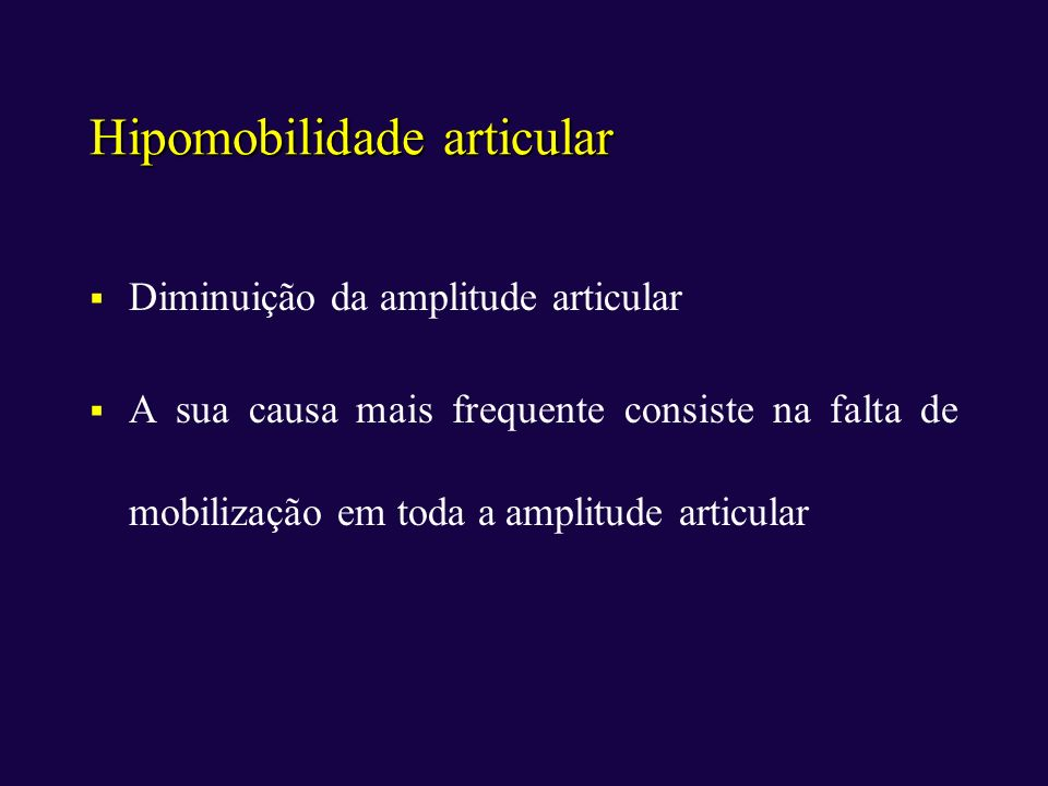 Hipomobilidade articular