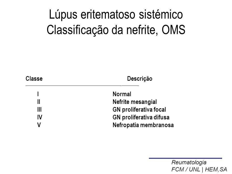 Lúpus eritematoso sistémico Classificação da nefrite, OMS