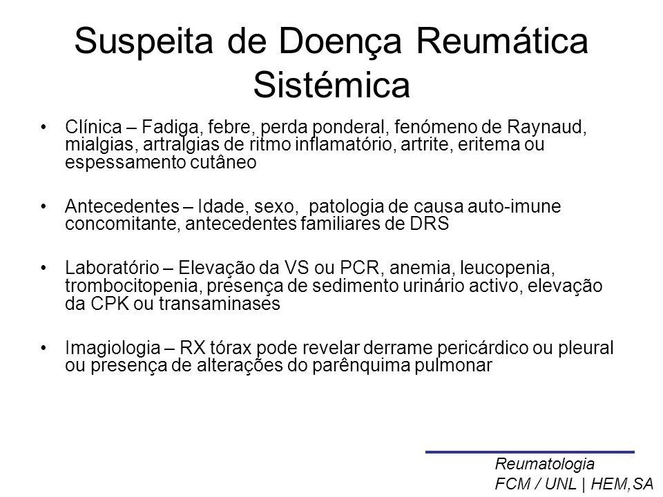 Suspeita de Doença Reumática Sistémica