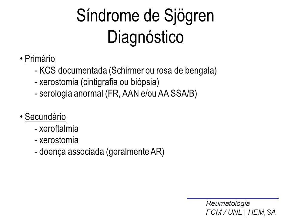 Síndrome de Sjögren Diagnóstico