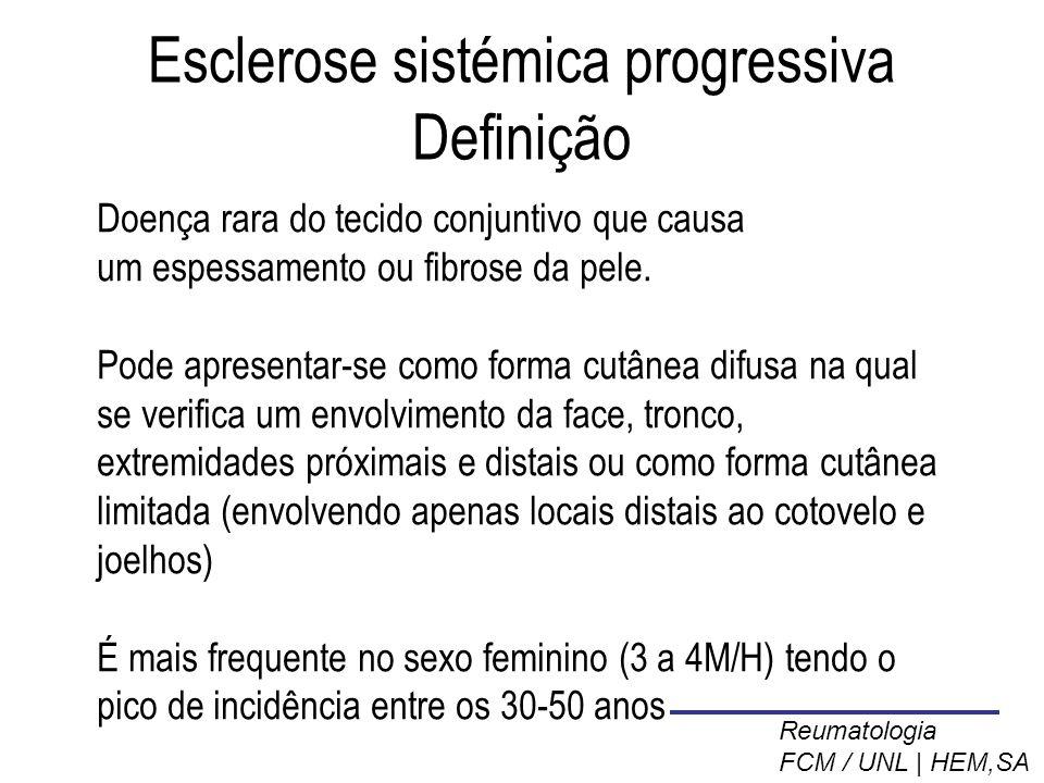 Esclerose sistémica progressiva Definição