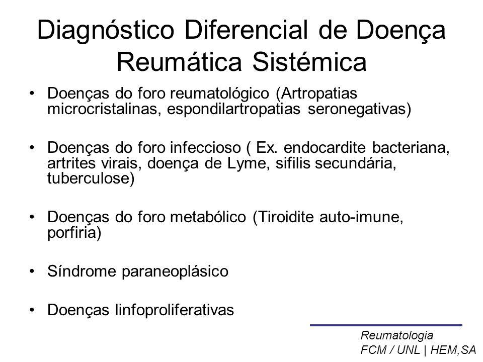 Diagnóstico Diferencial de Doença Reumática Sistémica