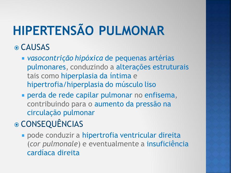 HIPERTENSÃO PULMONAR CAUSAS CONSEQUÊNCIAS