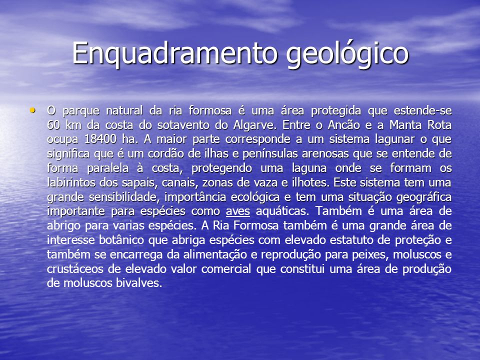 Enquadramento geológico