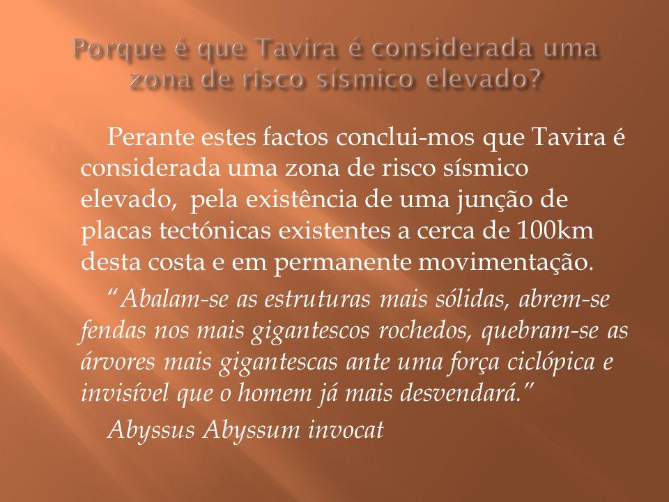 Porque é que Tavira é considerada uma zona de risco sísmico elevado