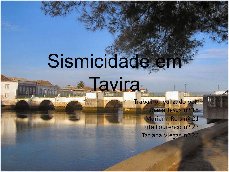 Sismicidade em Tavira Trabalho realizado por: Joana Jesus nº 15