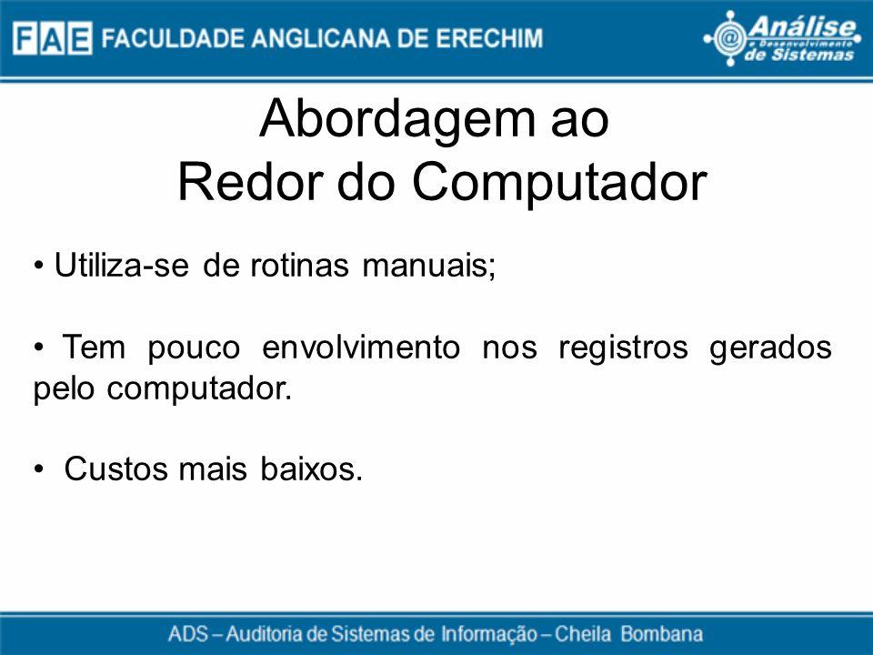 Abordagem ao Redor do Computador Utiliza-se de rotinas manuais;