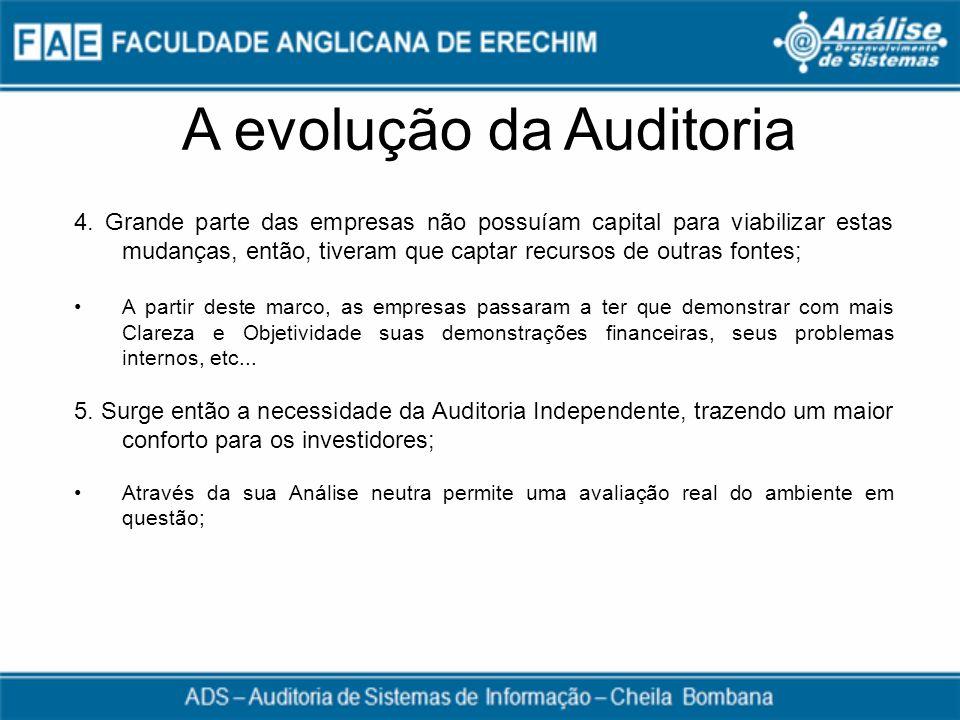 A evolução da Auditoria
