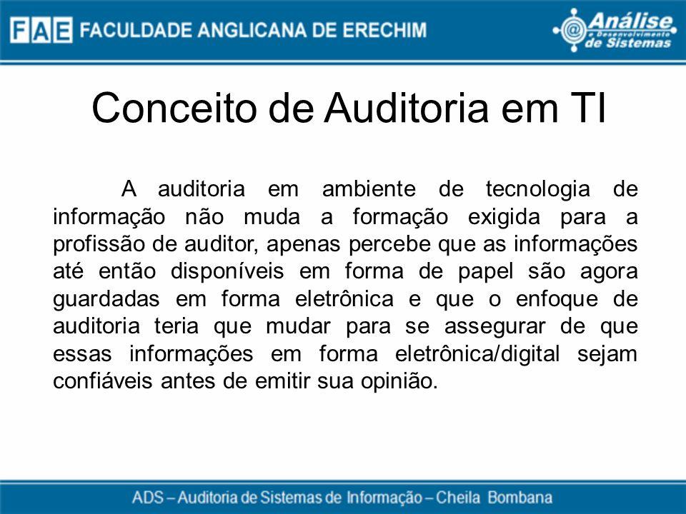Conceito de Auditoria em TI