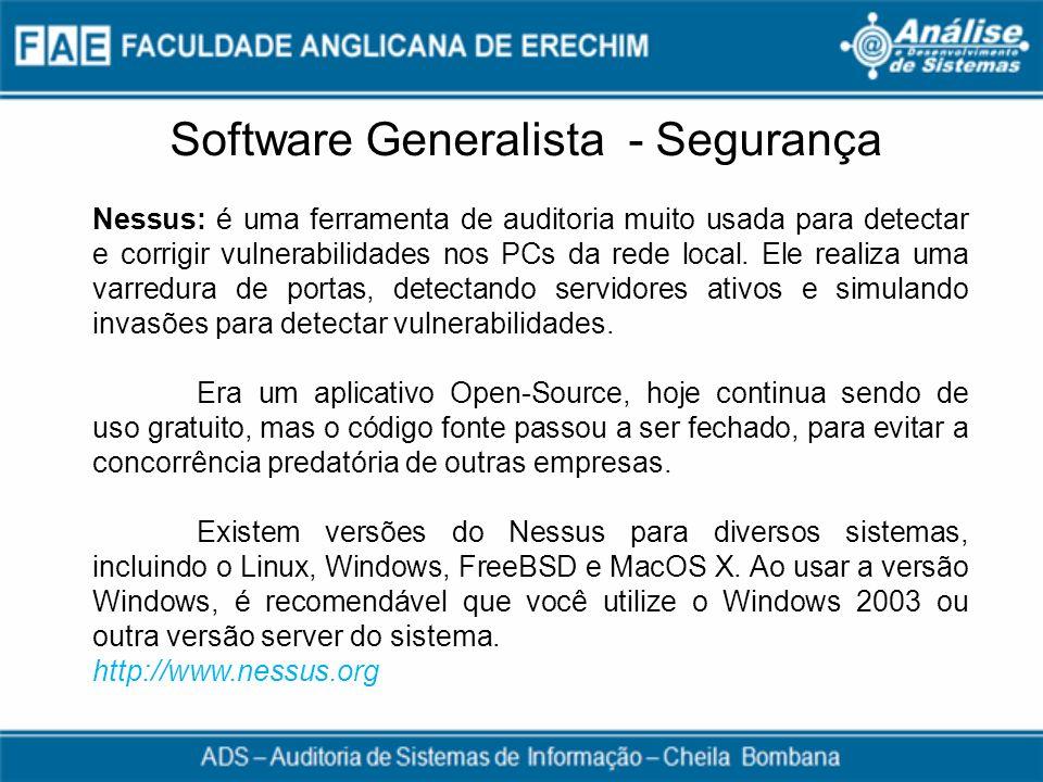 Software Generalista - Segurança