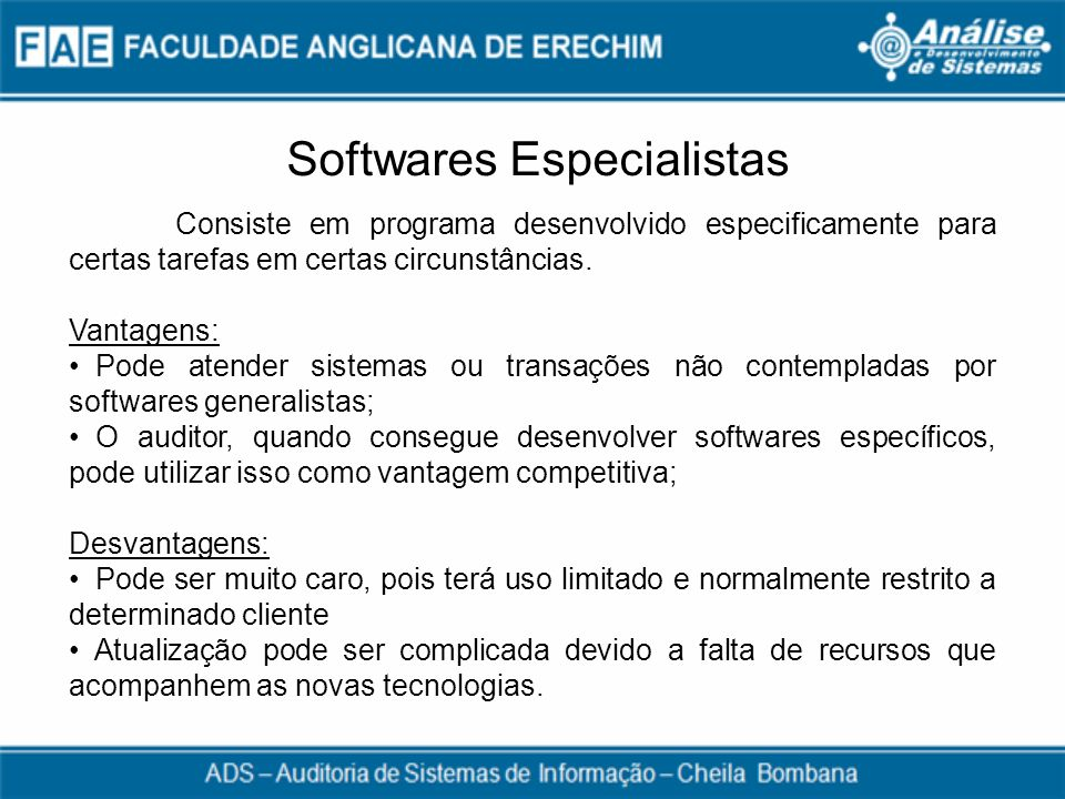 Softwares Especialistas