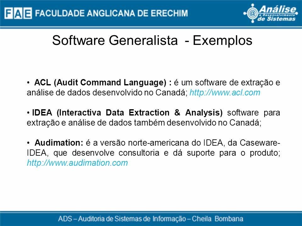 Software Generalista - Exemplos