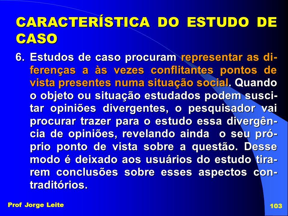 CARACTERÍSTICA DO ESTUDO DE CASO