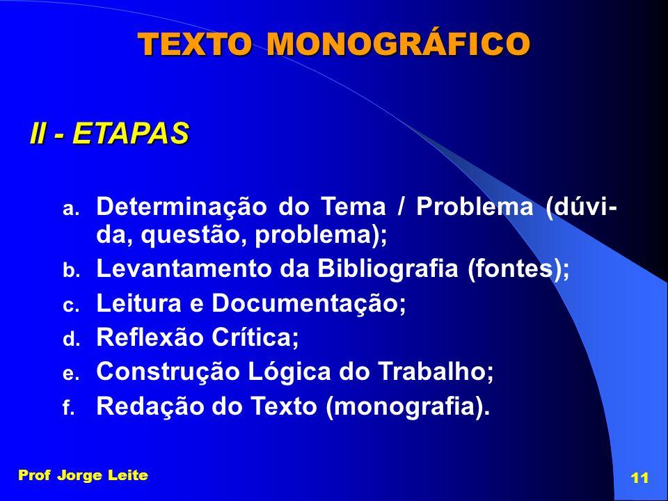 TEXTO MONOGRÁFICO II - ETAPAS