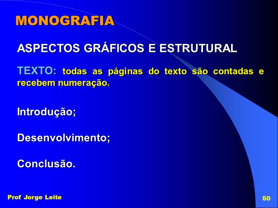 MONOGRAFIA ASPECTOS GRÁFICOS E ESTRUTURAL