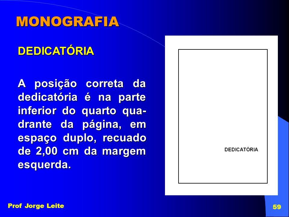 MONOGRAFIA DEDICATÓRIA