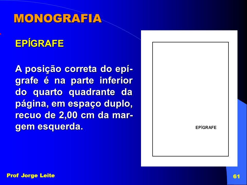 MONOGRAFIA EPÍGRAFE. EPÍGRAFE.