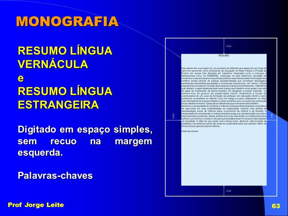MONOGRAFIA RESUMO LÍNGUA VERNÁCULA e ESTRANGEIRA