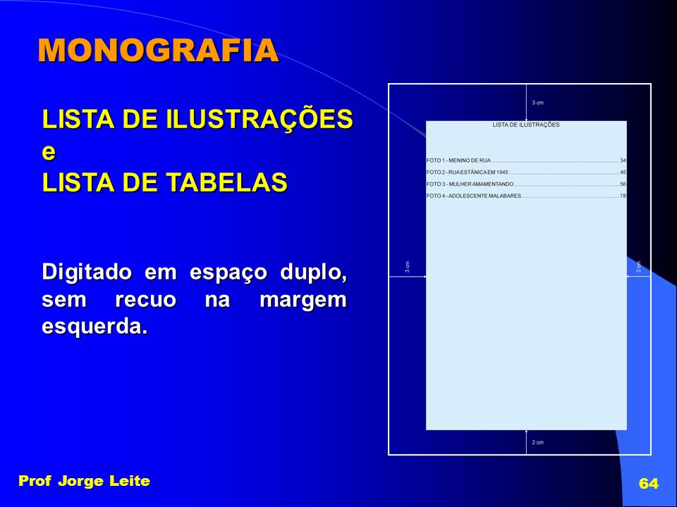 MONOGRAFIA LISTA DE ILUSTRAÇÕES e LISTA DE TABELAS