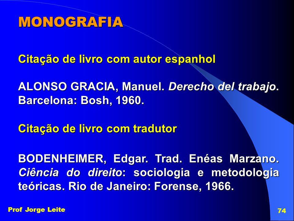 MONOGRAFIA Citação de livro com autor espanhol