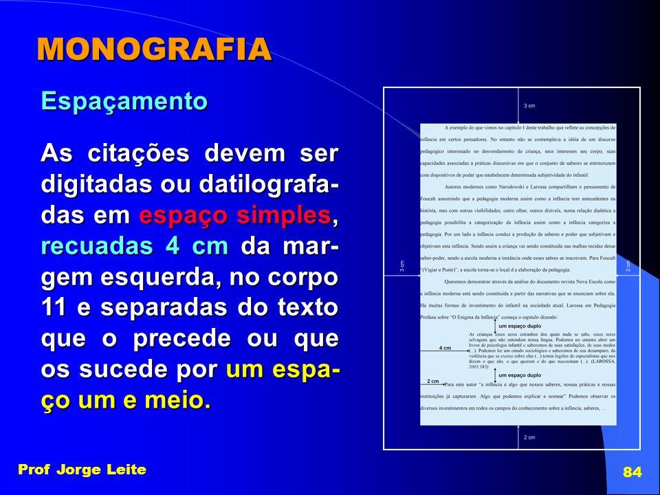 MONOGRAFIA Espaçamento
