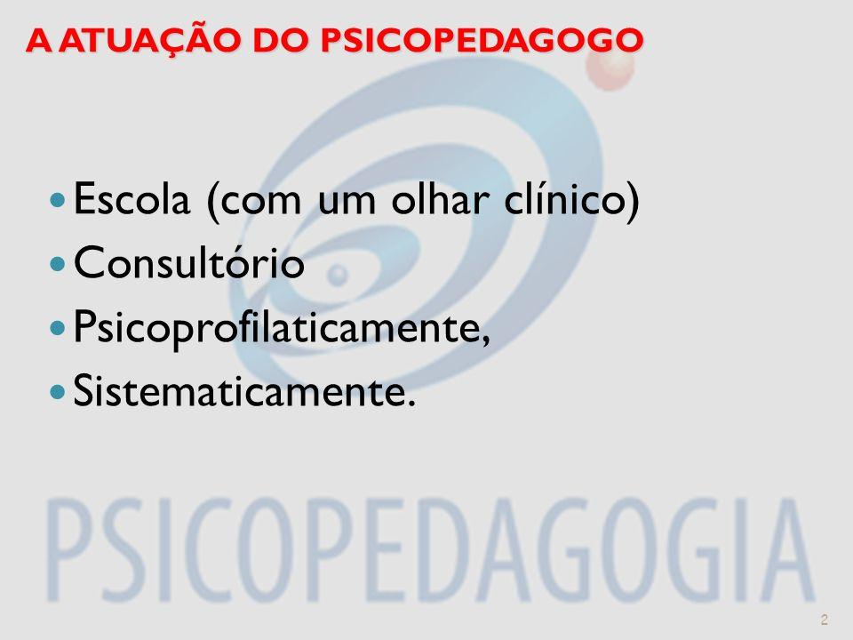 A ATUAÇÃO DO PSICOPEDAGOGO