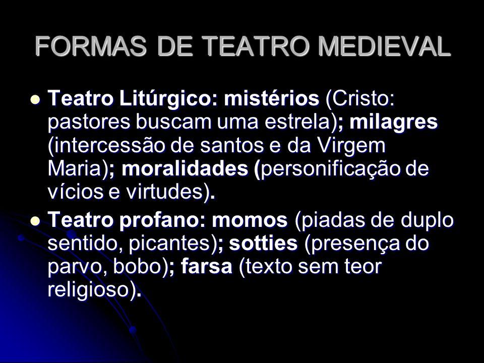 FORMAS DE TEATRO MEDIEVAL