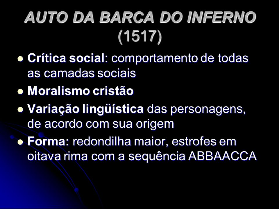 AUTO DA BARCA DO INFERNO (1517)
