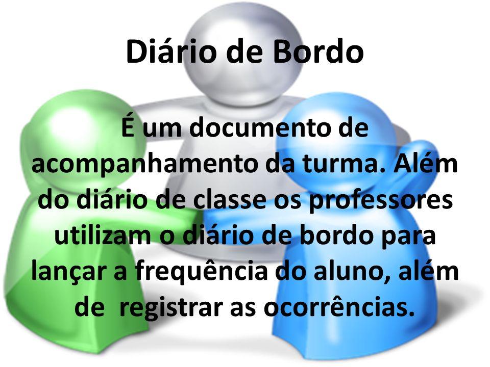 Diário de Bordo É um documento de acompanhamento da turma