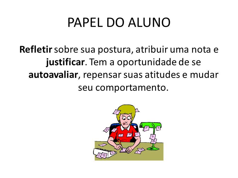 PAPEL DO ALUNO