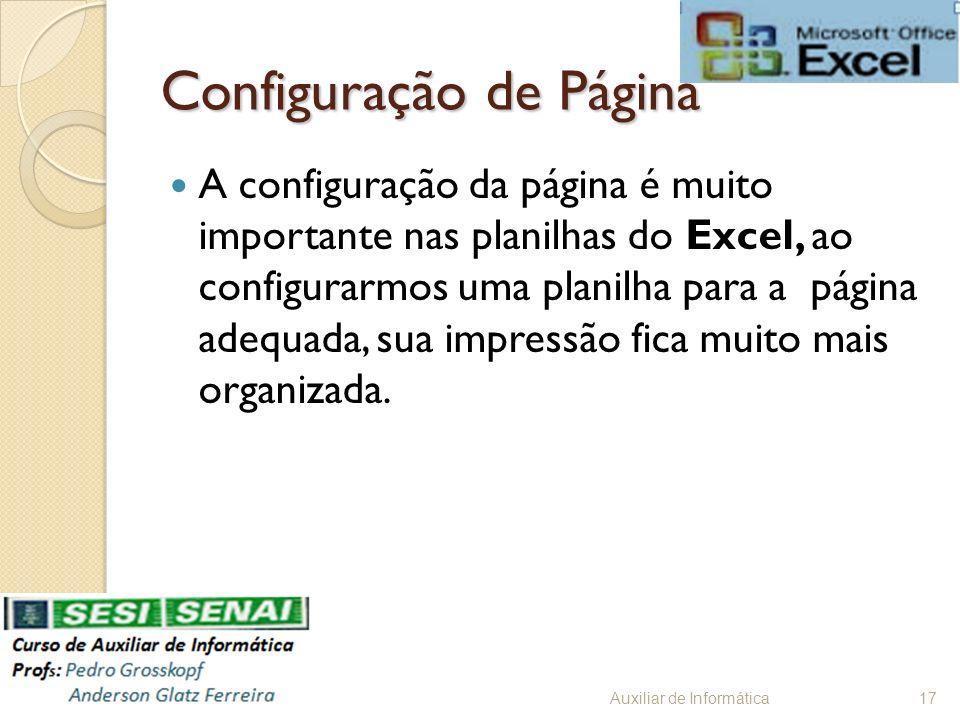 Configuração de Página