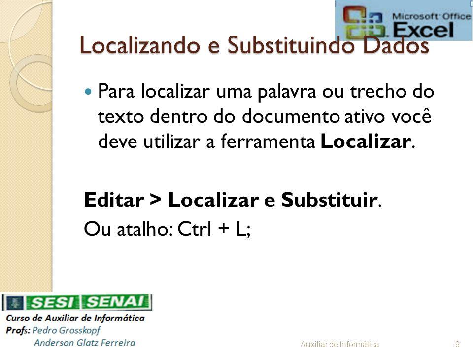 Localizando e Substituindo Dados