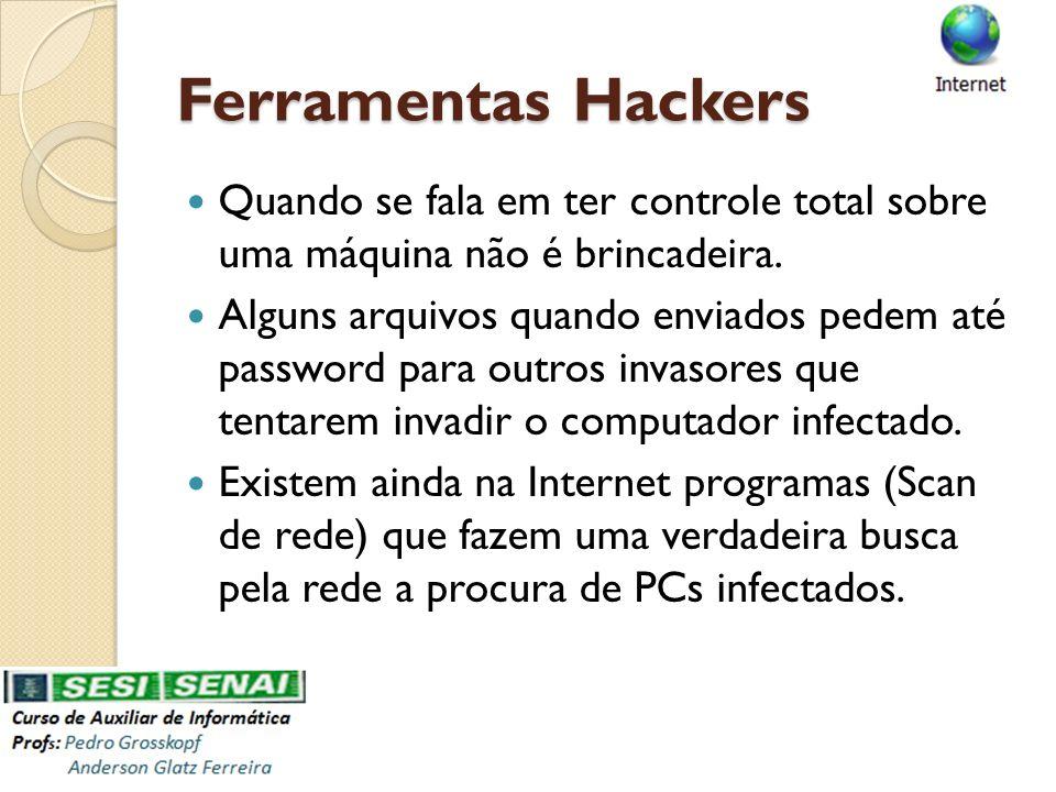 Ferramentas Hackers Quando se fala em ter controle total sobre uma máquina não é brincadeira.