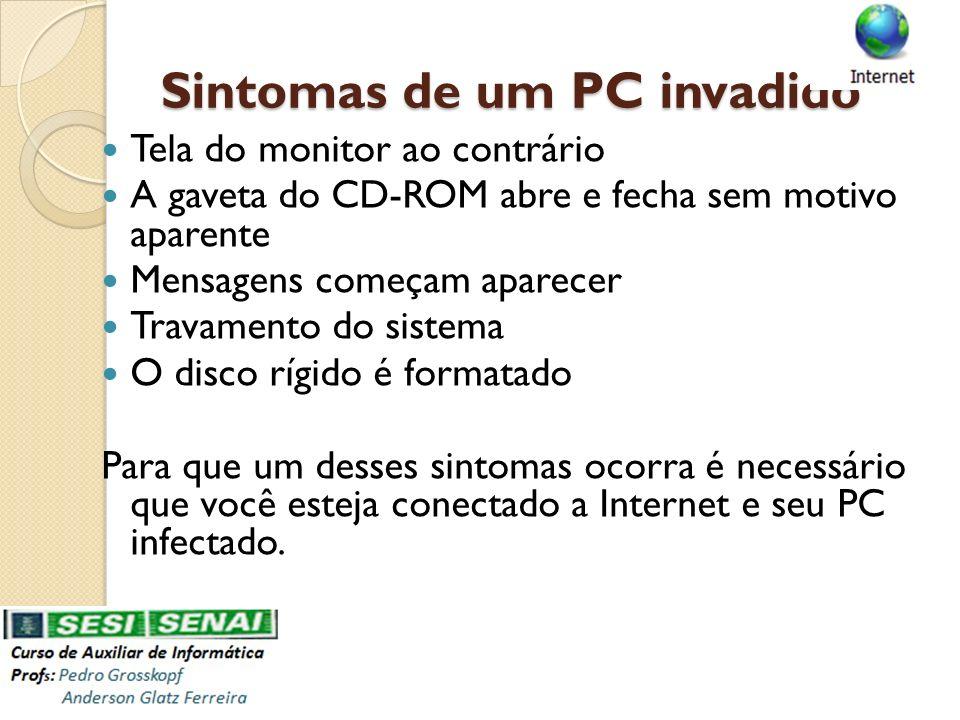 Sintomas de um PC invadido