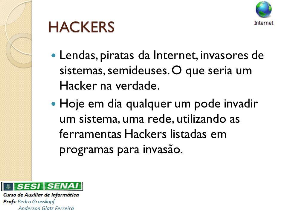 HACKERS Lendas, piratas da Internet, invasores de sistemas, semideuses. O que seria um Hacker na verdade.