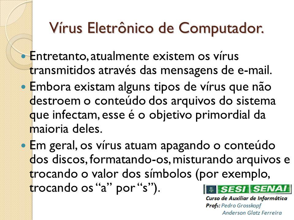 Vírus Eletrônico de Computador.