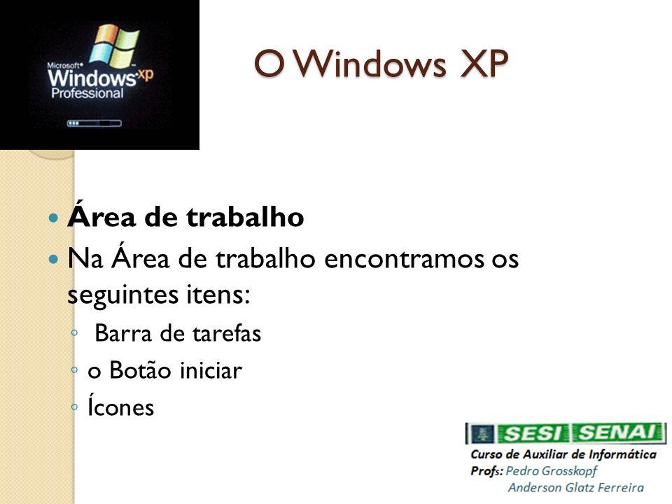O Windows XP Área de trabalho