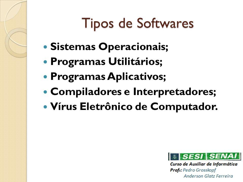 Tipos de Softwares Sistemas Operacionais; Programas Utilitários;