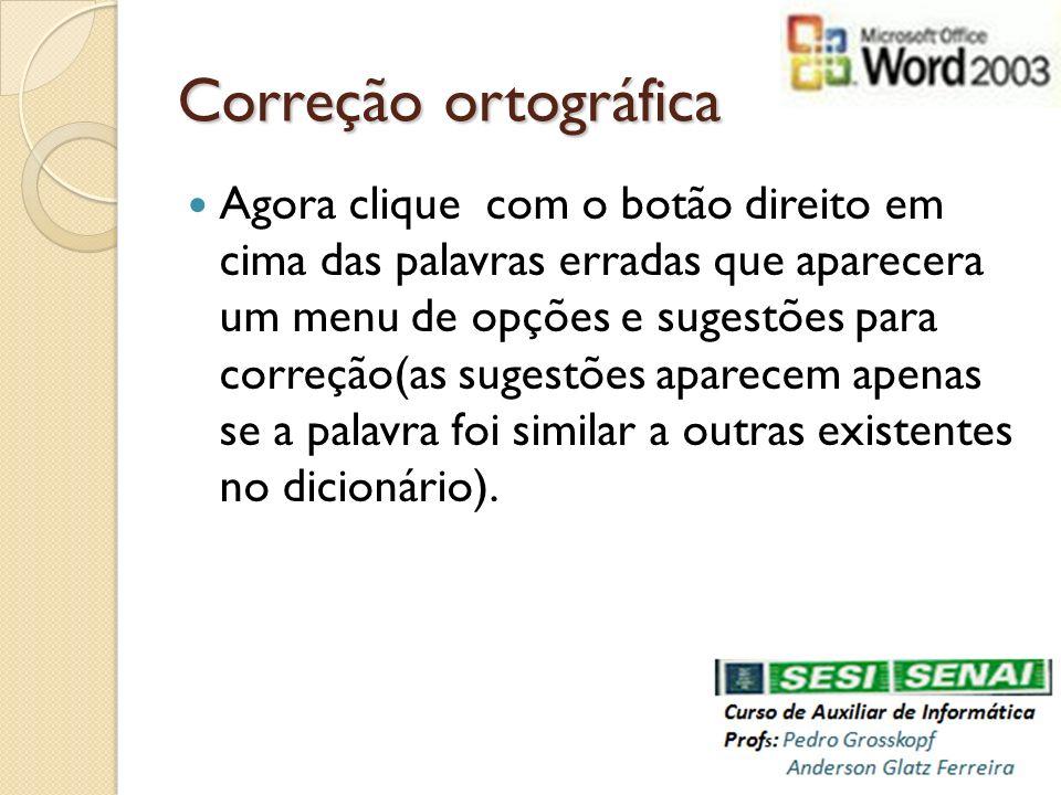 Correção ortográfica
