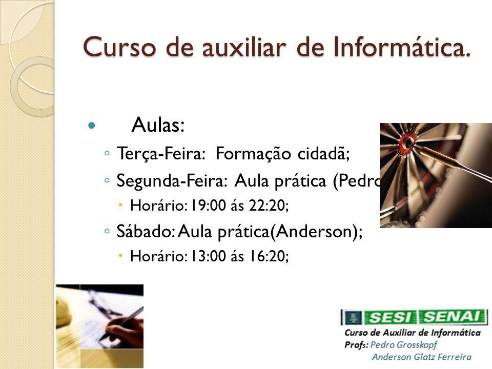 Curso de auxiliar de Informática.